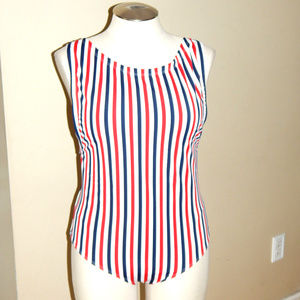 20 Lane Bryant Cacique One Piece Striped Swimsuit